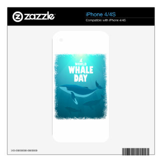 World Whale Day - Appreciation Day Decals For iPhone 4