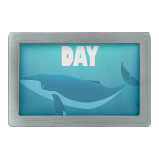 World Whale Day - Appreciation Day Rectangular Belt Buckle