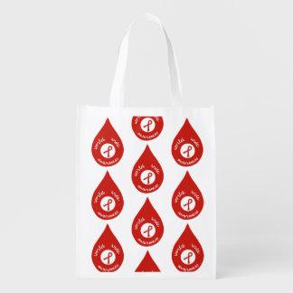World wide awareness reusable grocery bag