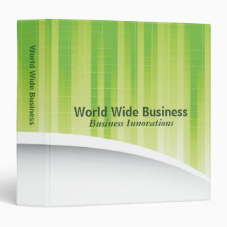 World Wide Business Abstract Green Vinyl Binders