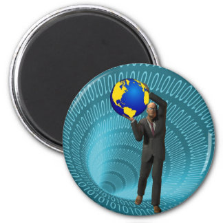 World Wide Web Access 2 Inch Round Magnet