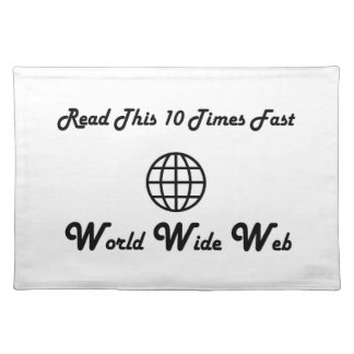 World Wide Web Cloth Placemat