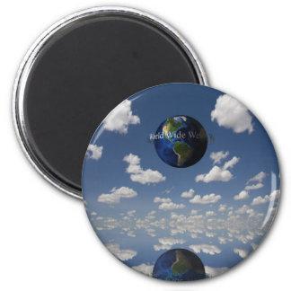 World Wide Web 2 Inch Round Magnet