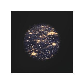 World Wide Web of Light Network Canvas Print