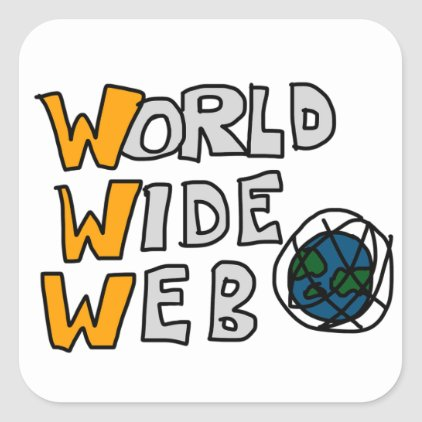 World Wide Web Square Sticker
