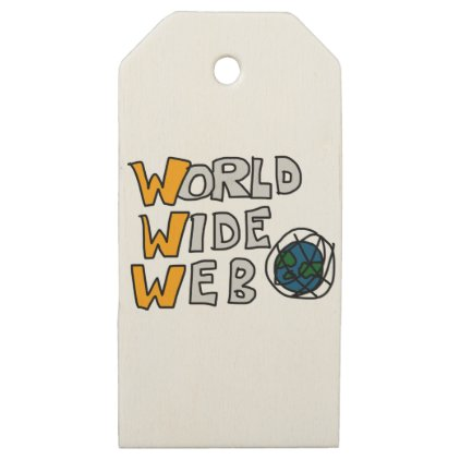 World Wide Web Wooden Gift Tags