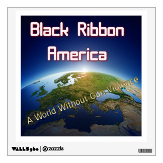 World with out gun violence wall decal