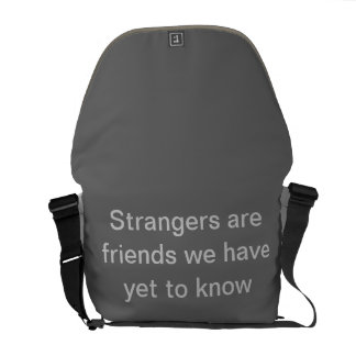 World Without Strangers Travelite Bag Messenger Bags