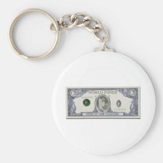 WorldDollars010911 Basic Round Button Keychain