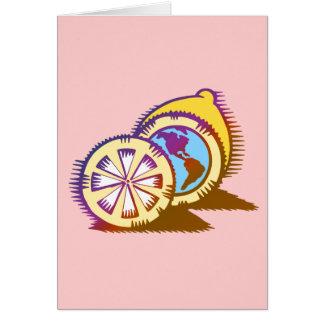 Worldly Lemons Card