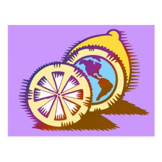 Worldly Lemons Postcard