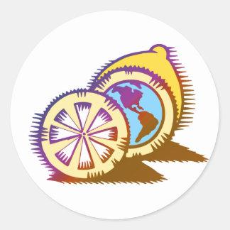 Worldly Lemons Sticker