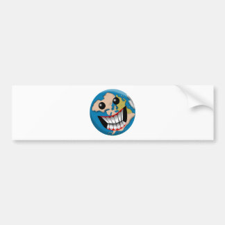 Worldly Smile Bumper Stickers