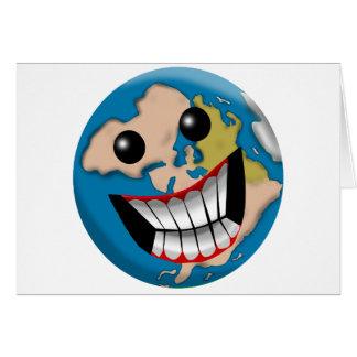 Worldly Smile Greeting Card
