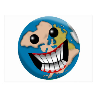 Worldly Smile Postcard