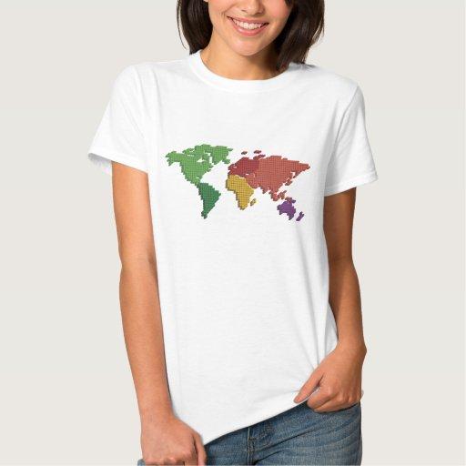 worldmap 3D dotted T-shirt