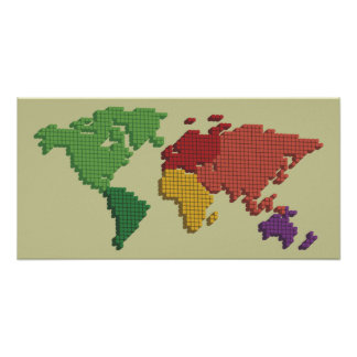 worldmap dotted poster