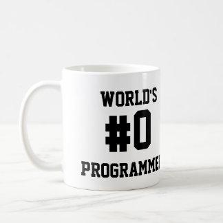 WORLD'S #0 PROGRAMMER CLASSIC WHITE COFFEE MUG