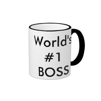 world's #1 boss ringer coffee mug