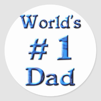 World's #1 Dad Classic Round Sticker