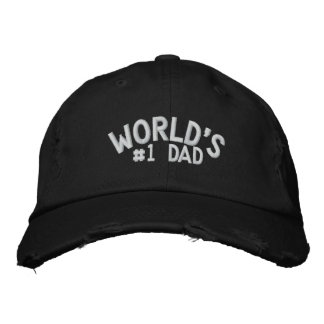 World's #1 Dad Embroidered Baseball Hat
