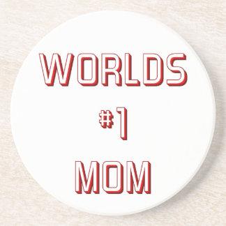 Worlds #1 mom sandstone coaster
