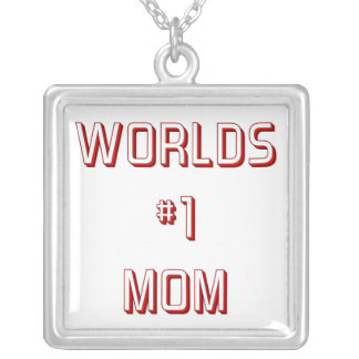 Worlds #1 mom silver plated necklace
