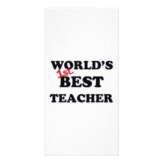 World's 1st. Best Teacher Card