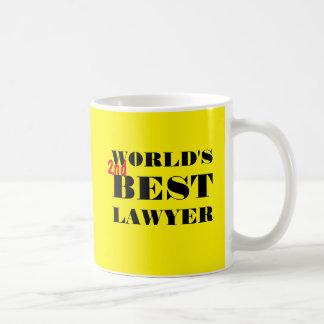 World's 2nd best lawyer coffee mug