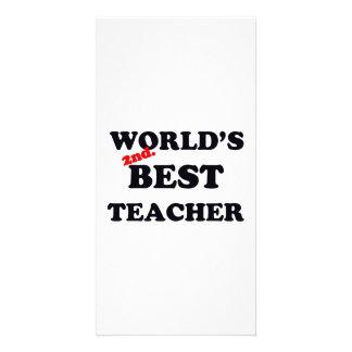 World's 2nd. Best Teacher Card