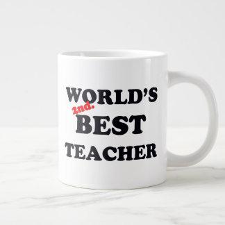 World's 2nd. Best Teacher Large Coffee Mug