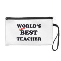 World's 2nd. Best Teacher Wristlet Purse