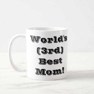 World's (3rd) Best Mom Classic White Coffee Mug