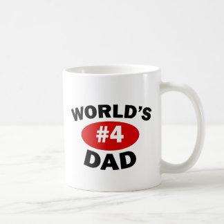 World's #4 Dad Classic White Coffee Mug