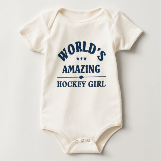 World's amazing Hockey Girl Baby Bodysuit