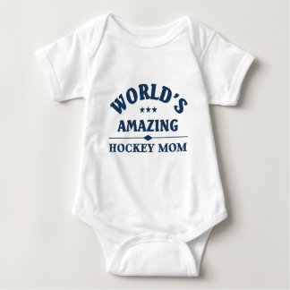 World's amazing Hockey Mom Baby Bodysuit
