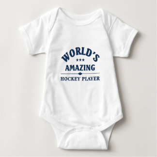 World's amazing Hockey Player Baby Bodysuit