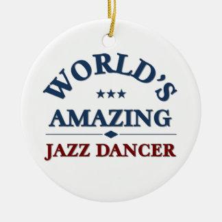 World's amazing Jazz Dancer Ceramic Ornament