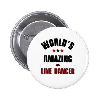 World's amazing Line dancer 2 Inch Round Button