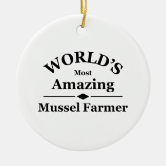 World's amazing Mussel Farming Ceramic Ornament