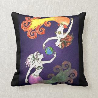 Worlds Apart Throw Pillow