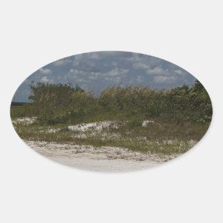 Worlds Away Oval Sticker