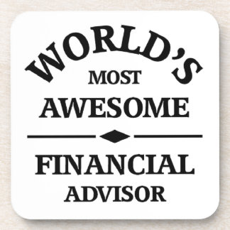 World's awesome Financial Advisor Coaster