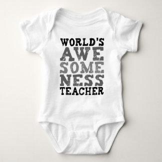 World's Awesomeness Teacher Baby Bodysuit