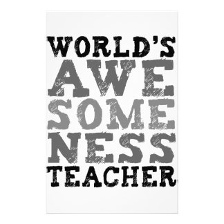 World's Awesomeness Teacher Stationery