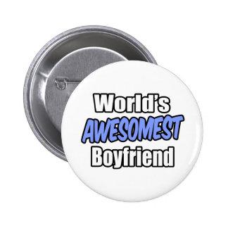 World's Awesomest Boyfriend 2 Inch Round Button