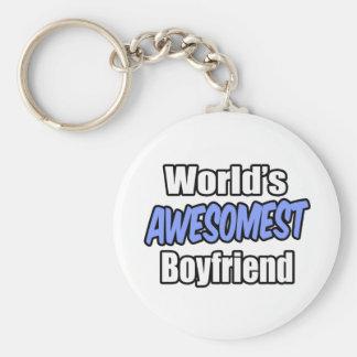 World's Awesomest Boyfriend Basic Round Button Keychain