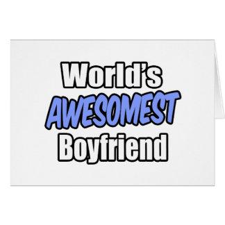 World's Awesomest Boyfriend Greeting Card