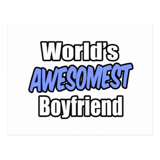 World's Awesomest Boyfriend Postcard