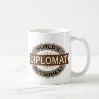 Worlds Awesomest Diplomat Classic White Coffee Mug